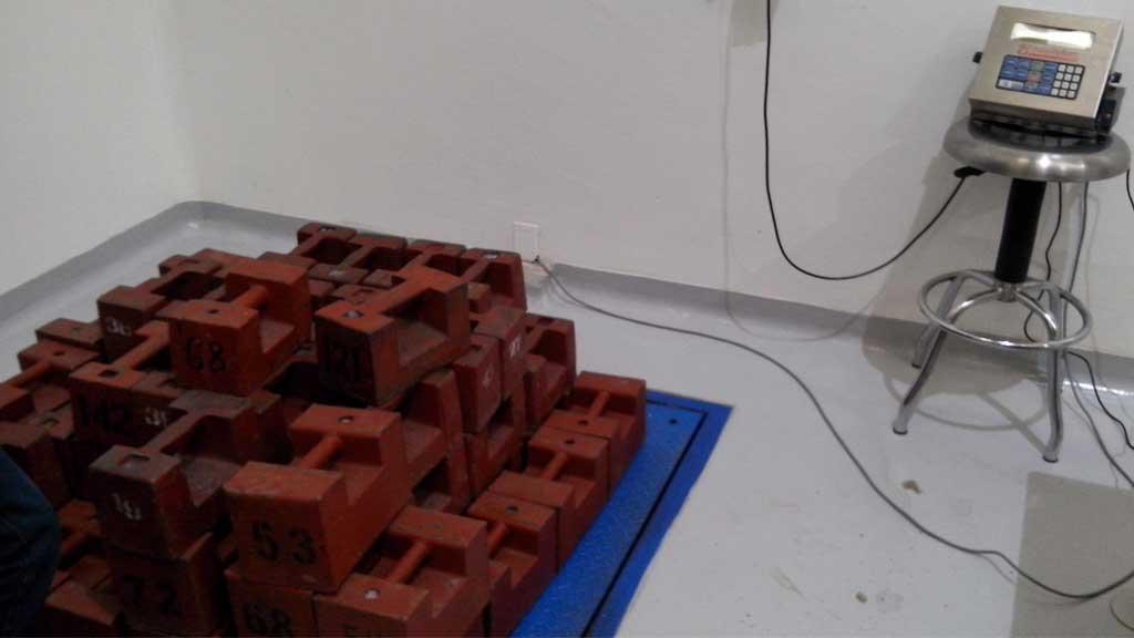 Calibración de básculas de piso
