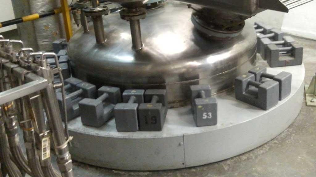 Calibración de bascula en un tanque de proceso