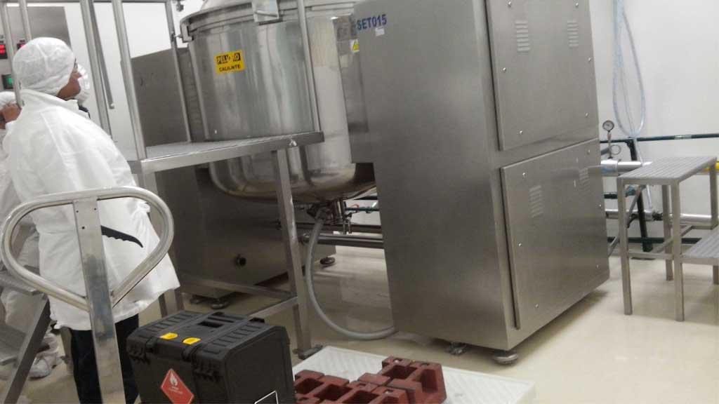 Calibración de básculas en reactores