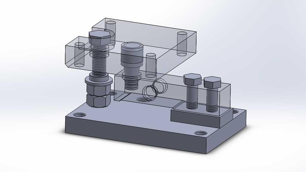 Montaje para celda de carga en tanque