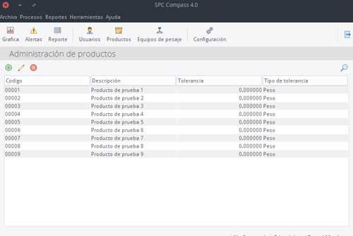 Modulo de captura de productos del software compass