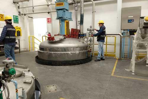Bascula de tanque en Industria Quimica