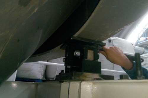 Instalación de celdas de carga en tanque de Industria Agricola