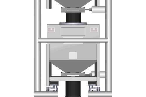 Tolva con báscula en sistemas de pesaje de flujo continuo